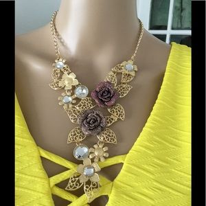 Brand new statement necklace with earring